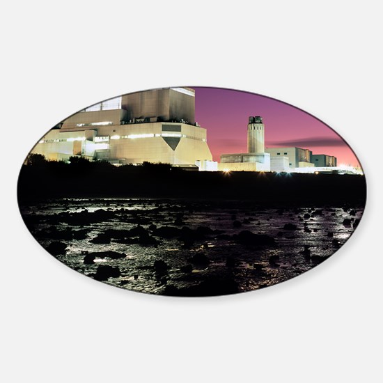Hinkley Point nuclear power station Sticker (Oval)