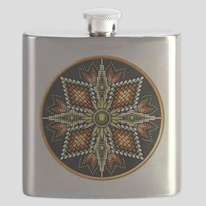 Native American Rosette 12 Flask