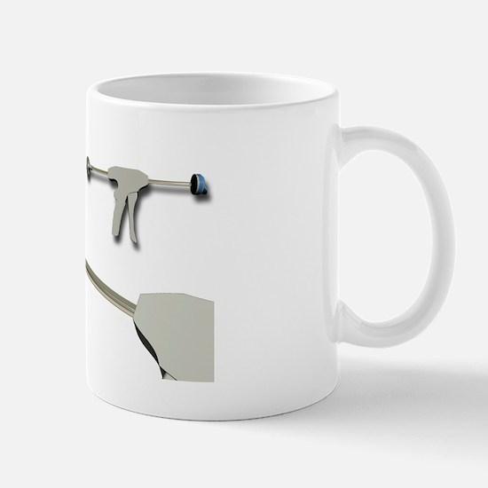 Hip replacement, artwork Mug