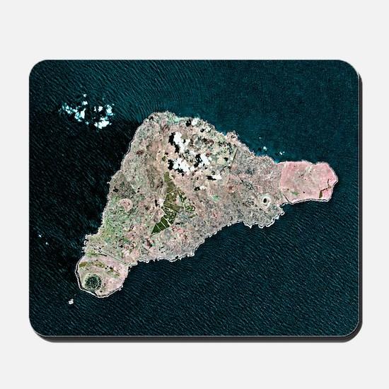 Easter Island, satellite image Mousepad
