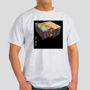 Earthquake seismic wave types, artwo Light T-Shirt