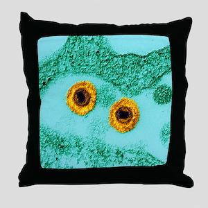 Herpes virus, TEM Throw Pillow