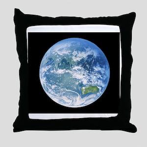 Earth centred on Australasia Throw Pillow