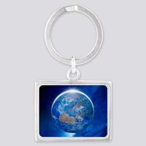 Earth from space, artwork Landscape Keychain