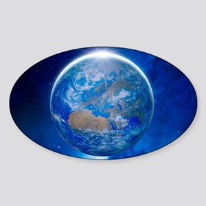 Earth from space, artwork Sticker (Oval)