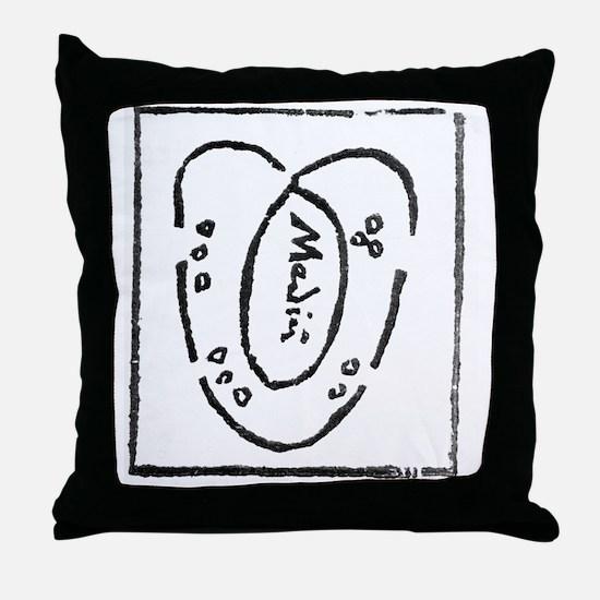 Heart diagram, 16th century Throw Pillow
