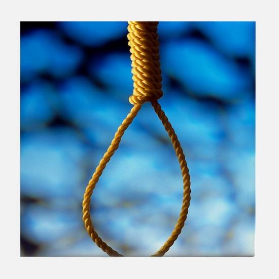 Hangman's noose Tile Coaster