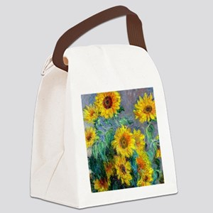 Jewelry Monet Sunf Canvas Lunch Bag