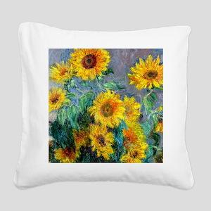 Jewelry Monet Sunf Square Canvas Pillow