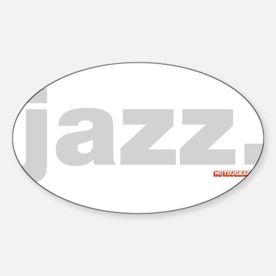 Jazz. Sticker (Oval)