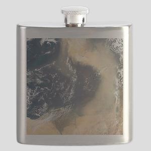 Dust plume crossing the Mediterranean Flask