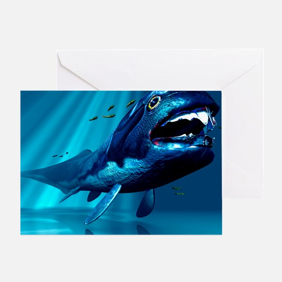 Dunkleosteus sp. prehistoric fish Greeting Card
