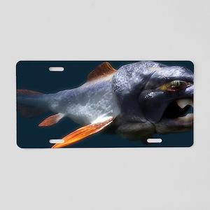 Dunkleosteus prehistoric fi Aluminum License Plate