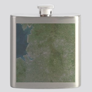 Greater Manchester, satellite image Flask
