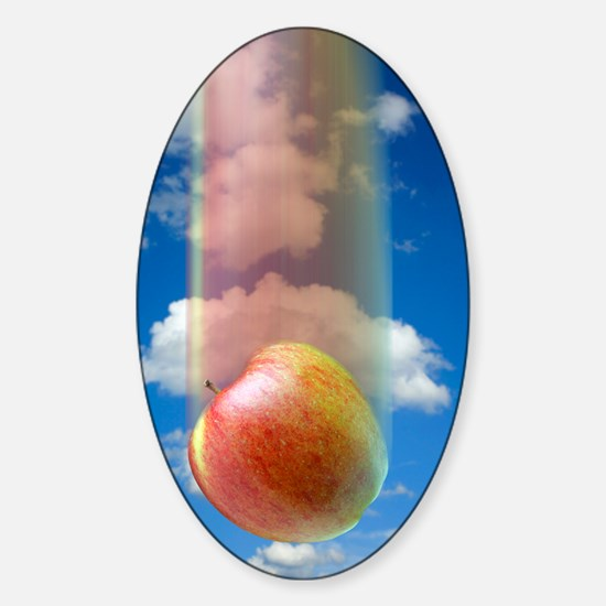 Gravity, conceptual image Sticker (Oval)