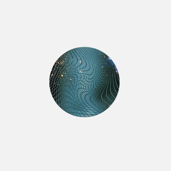 Gravity waves in space-time, artwork Mini Button
