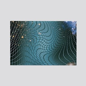 Gravity waves in space-time, artw Rectangle Magnet