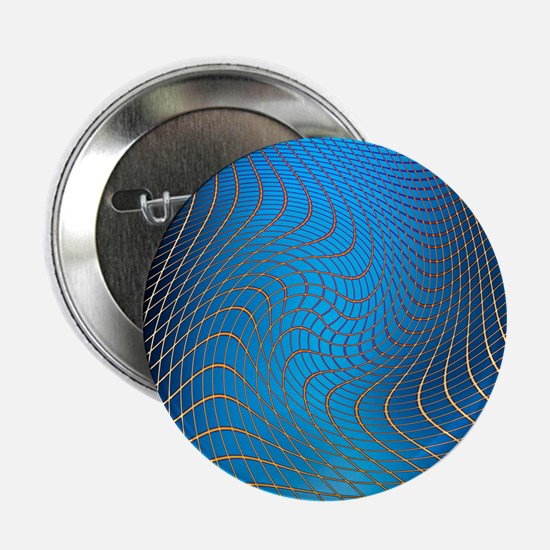 """Gravity waves in space-time, artwork 2.25"""" Button"""