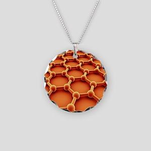 Graphene Necklace Circle Charm