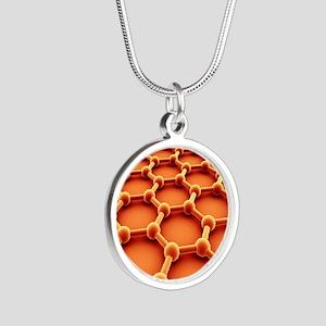 Graphene Silver Round Necklace