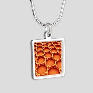 Graphene Silver Square Necklace