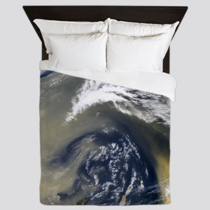 Dust storm over the Canary Islands Queen Duvet