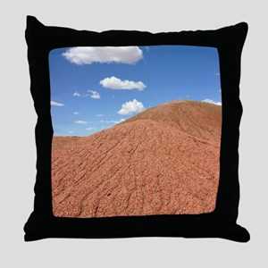 Dried mud slopes Throw Pillow
