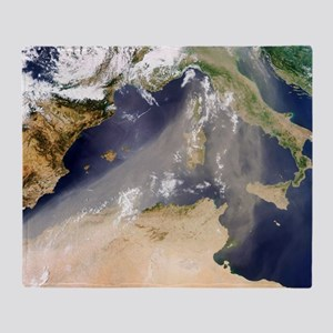 Dust plume crossing the Mediterranea Throw Blanket