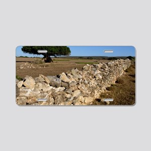 Dry stone wall Aluminum License Plate