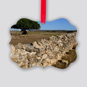 Dry stone wall Picture Ornament
