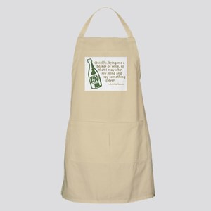 Bring Me Wine Quote Apron