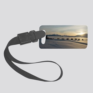 Dogsledge, Northern Greenland Small Luggage Tag