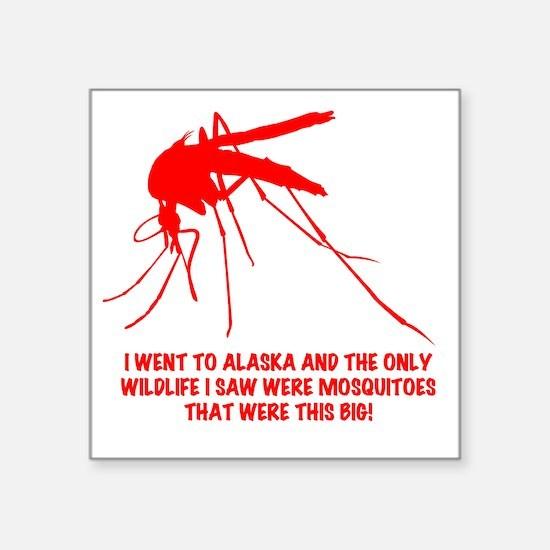 "red AK wildlife Square Sticker 3"" x 3"""