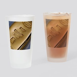 Gold bullion Drinking Glass