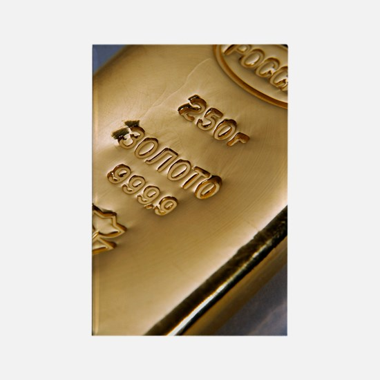 Gold bullion Rectangle Magnet