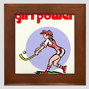 Girl Power Field Hockey Framed Tile