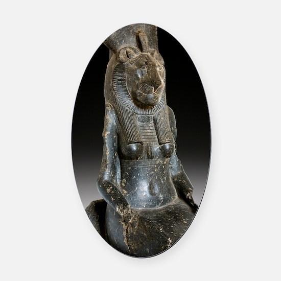 Goddess Sekhmet Oval Car Magnet