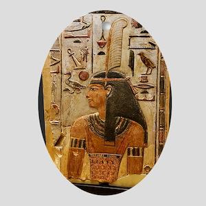 Goddess Maat Oval Ornament