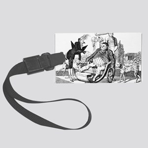 Gout complications, satirical ar Large Luggage Tag