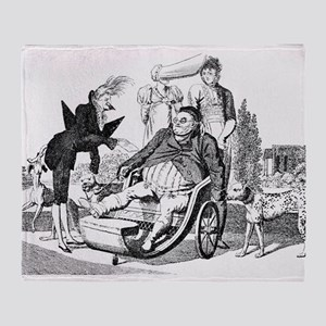 Gout complications, satirical artwor Throw Blanket