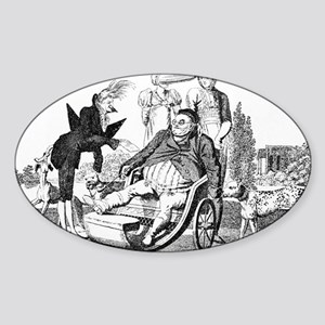 Gout complications, satirical artwo Sticker (Oval)