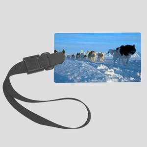 Dogsledge, Northern Greenland Large Luggage Tag
