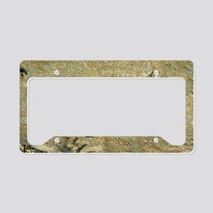 Dinosaur footprint fossils License Plate Holder