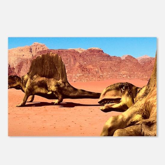 Dimetrodon pair, artwork Postcards (Package of 8)
