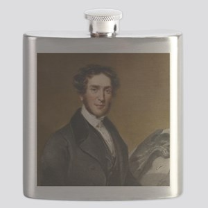 Gideon Mantell and iguanodon Flask