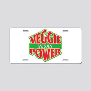 Veggie Power Vegan Aluminum License Plate