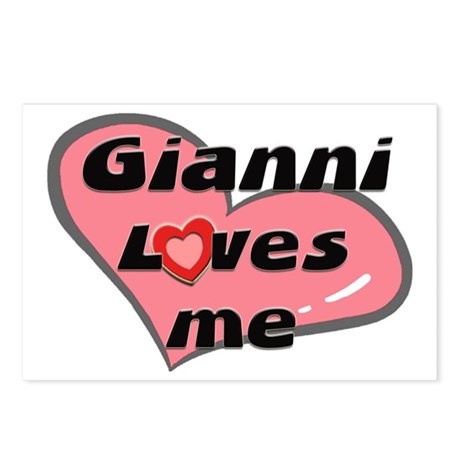 gianni loves me Postcards (Package of 8)