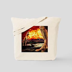 Dinosaur extinction Tote Bag