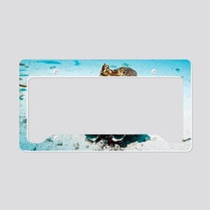 Giant clam on the sea bed License Plate Holder
