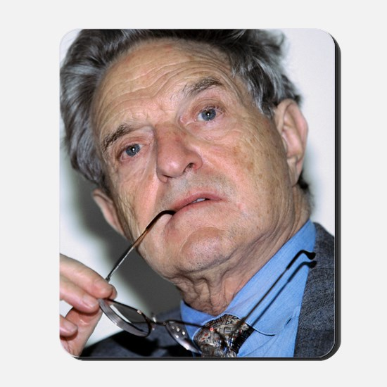 George Soros, Hungarian-US financier Mousepad